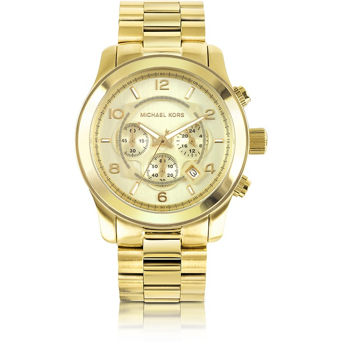 Men's Runway Gold-Tone Stainless Steel Bracelet Watch - Michael Kors