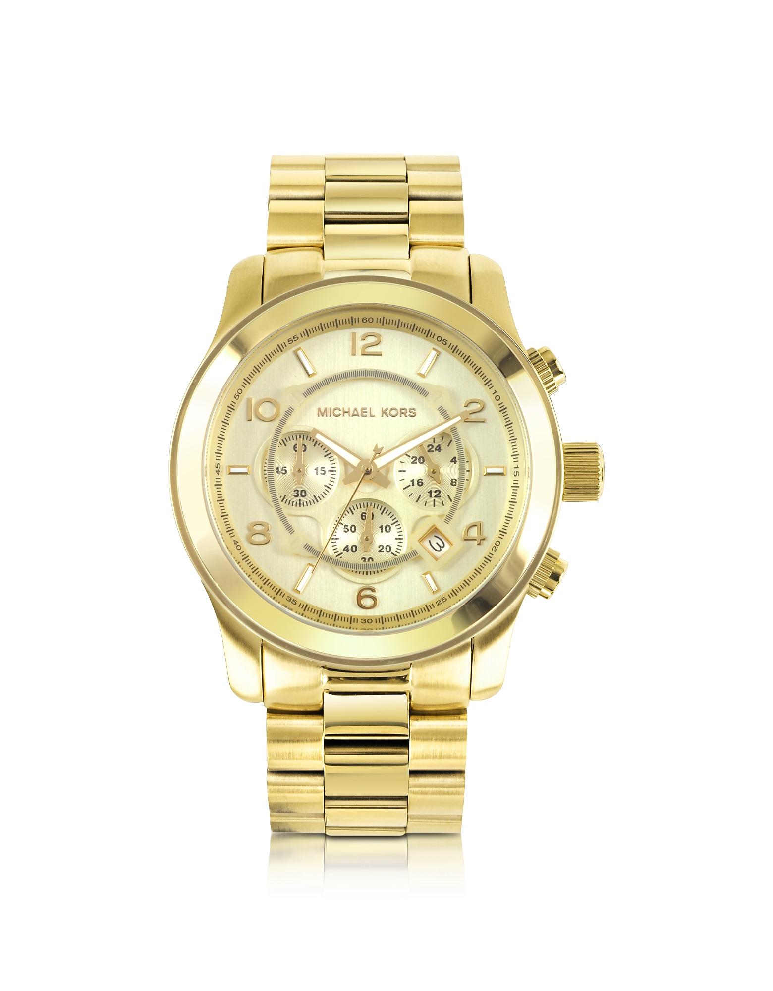 Michael Kors Men's Watches, Men's Runway Gold-Tone Stainless Steel Bracelet Watch