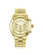 Lux-ID 207995 Men's Runway Gold-Tone Stainless Steel Bracelet Watch