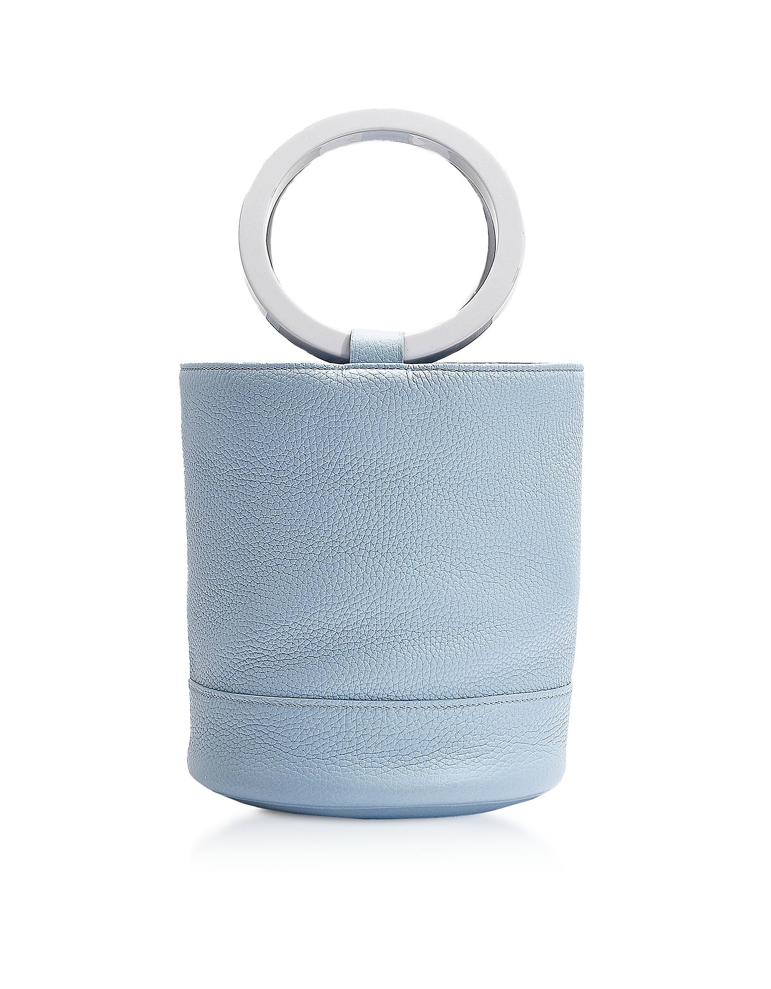 S804 Grey Petrol Leather Bonsai 20 cm Bag