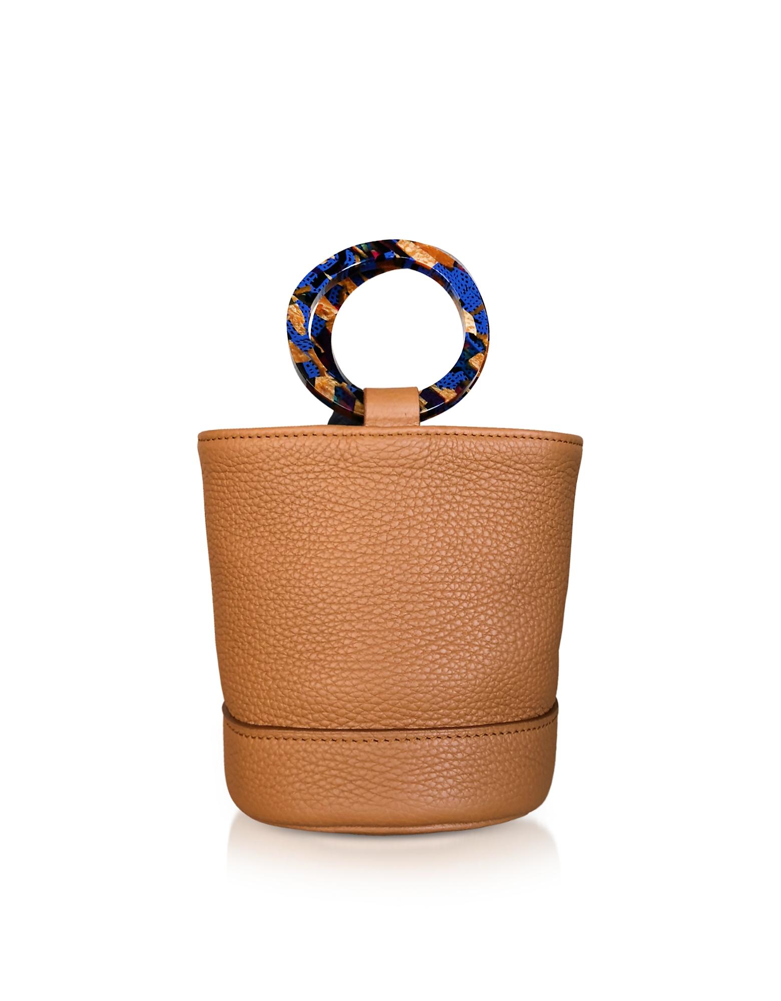 Image of Simon Miller Designer Handbags, Tan Leather Bonsai 15cm Bag