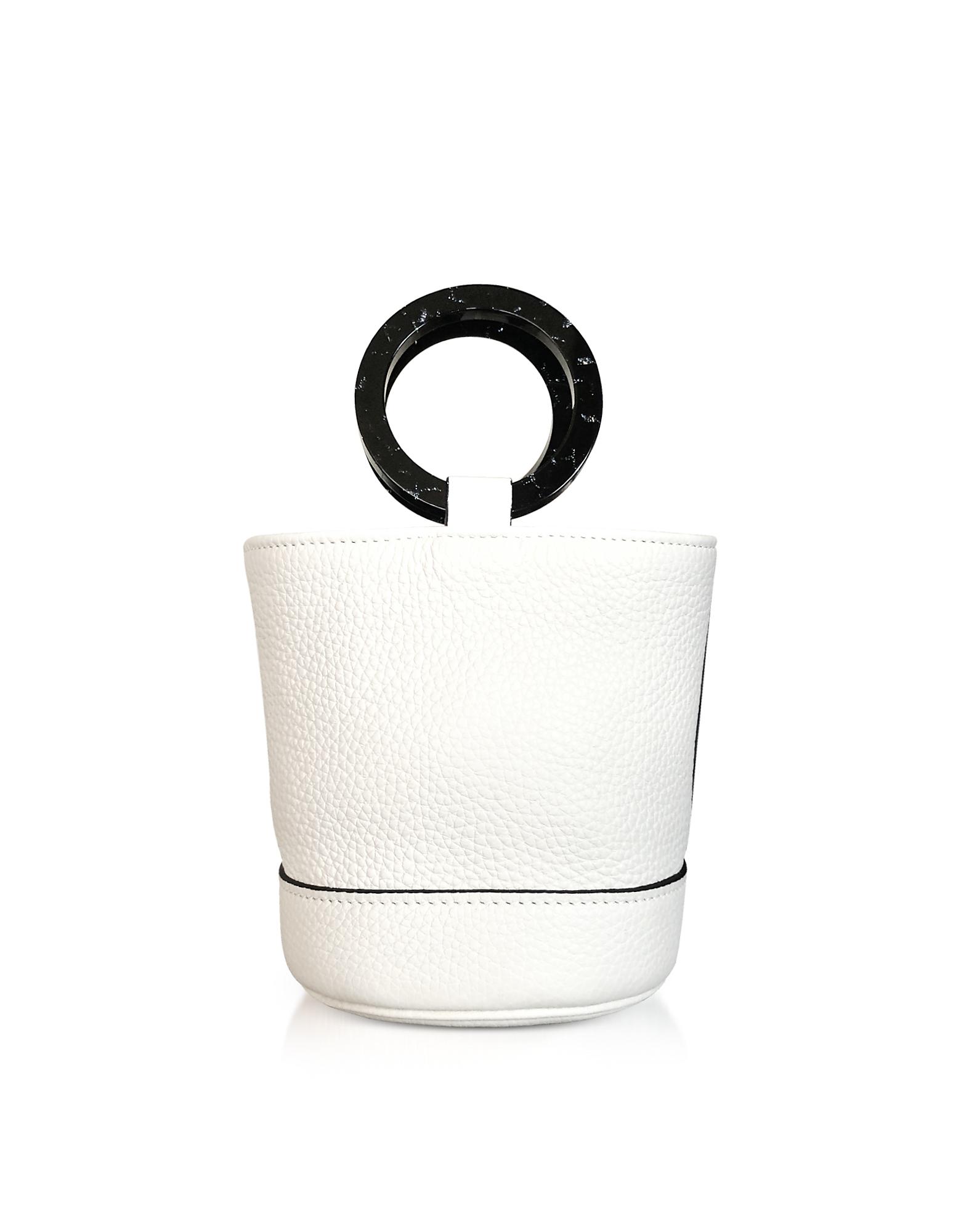 Image of Simon Miller Designer Handbags, Cliff Leather Bonsai 15cm Bag