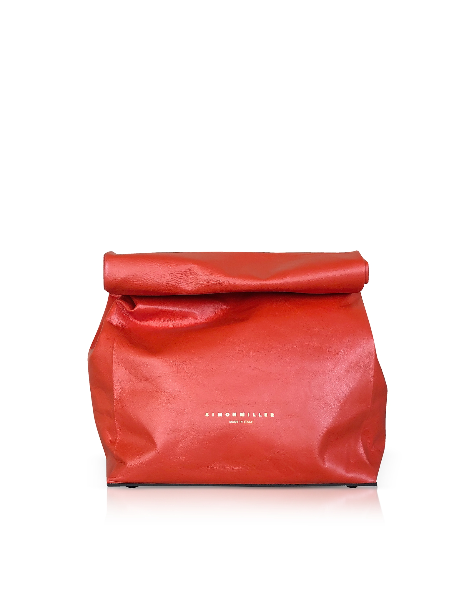 Image of Simon Miller Designer Handbags, Red Leather 20cm Lunch Bag