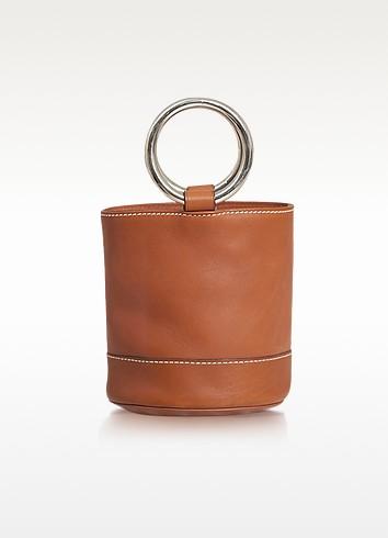 S801 Dark tan Calf Leather Bonsai Bag - Simon Miller