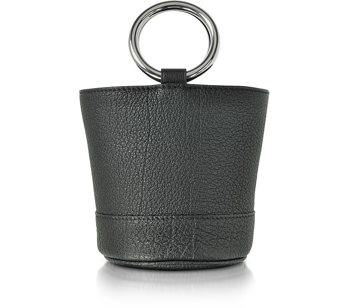 S801 Black Buffalo Leather Bonsai Bag - Simon Miller