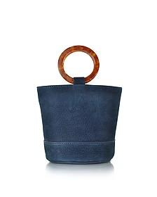 S801 Smoke Blue Nubuck Bonsai Bag - Simon Miller