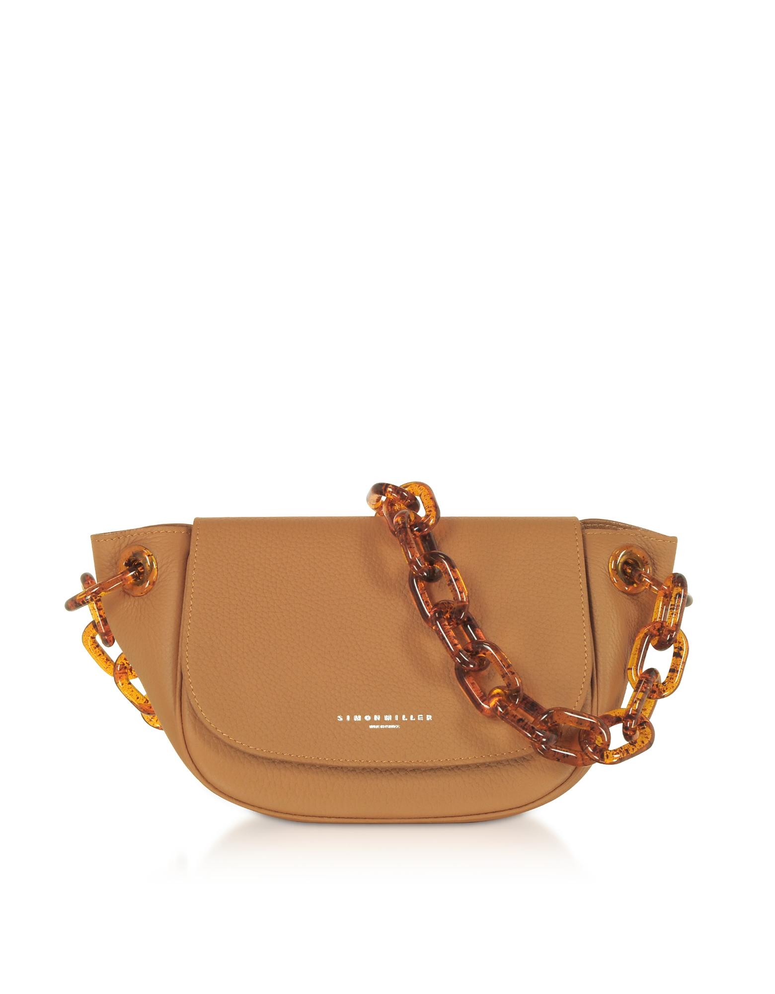 Simon Miller Designer Handbags, Grained Leather Bend Bag