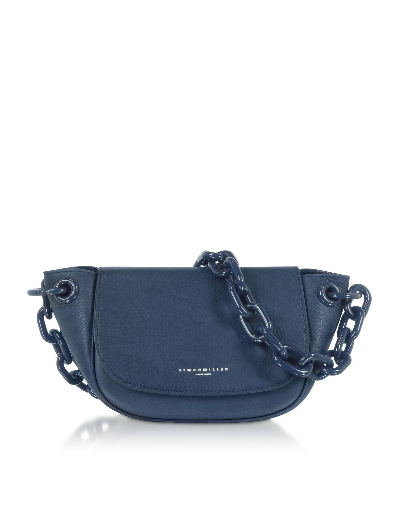 Simon Miller Designer Handbags, Genuine leather Bend Bag