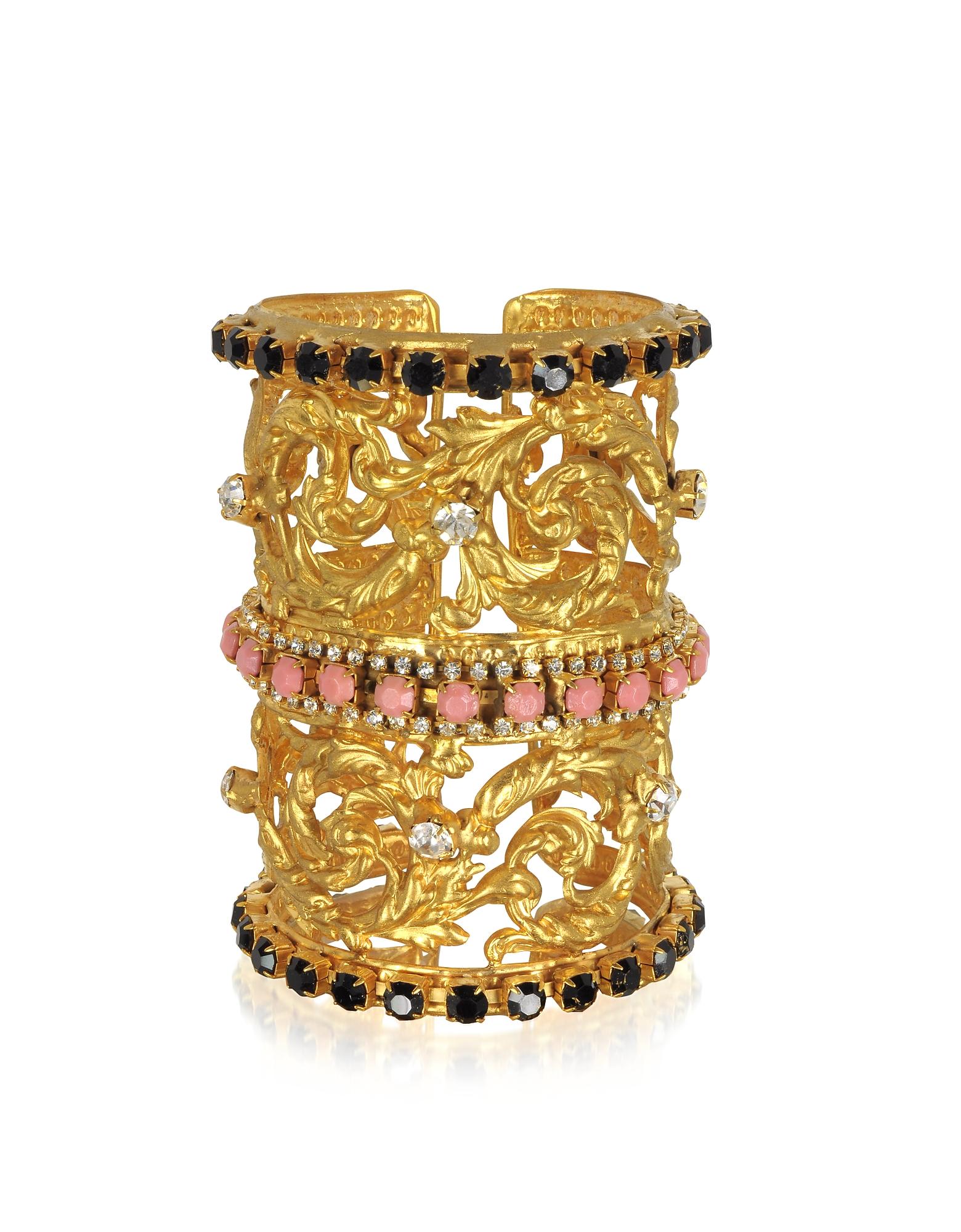 Corinthian Column Braccialetto in Ottone Placcato Oro