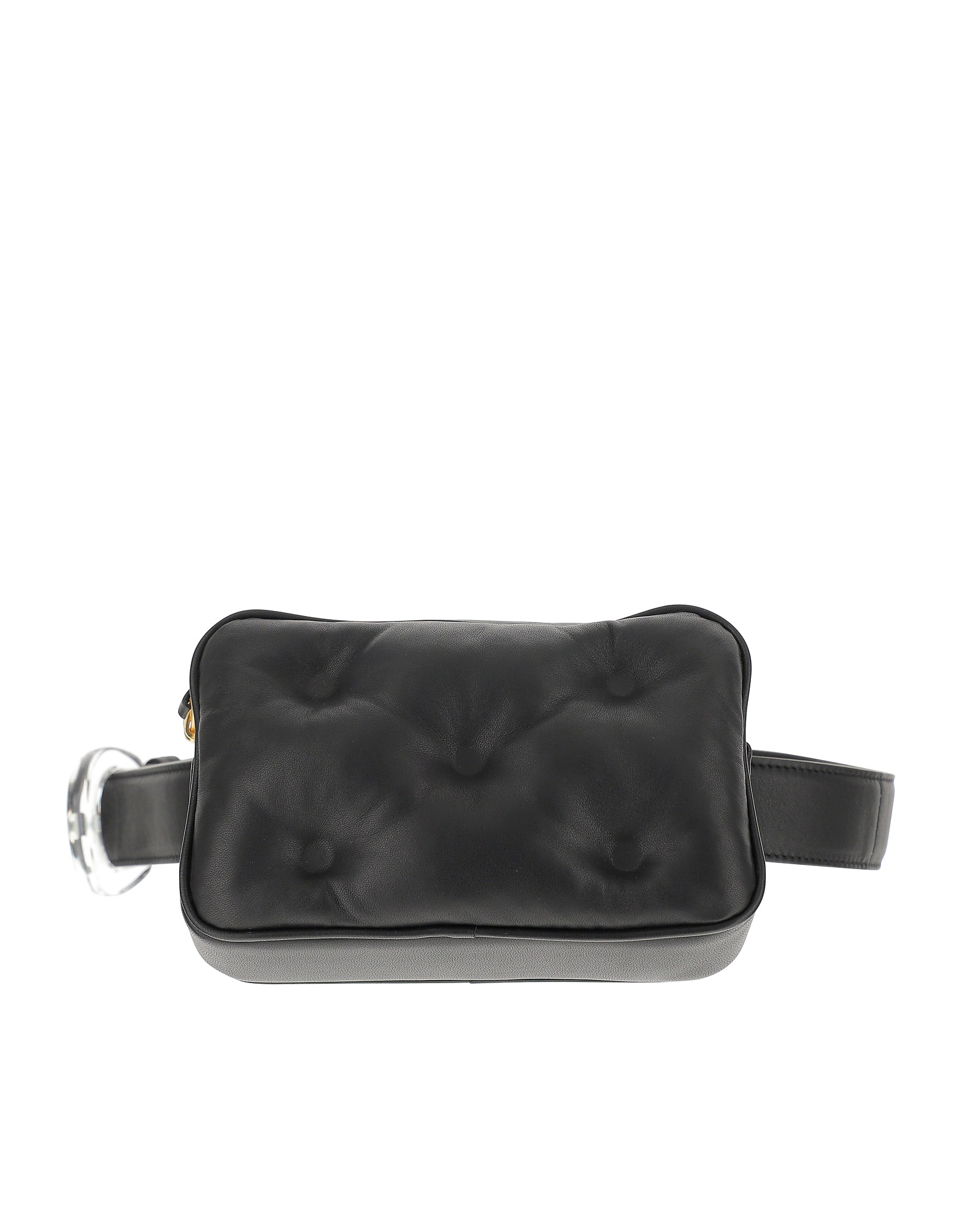 Maison Margiela Designer Handbags, Black Quilted Eco-Leather Belt Bag