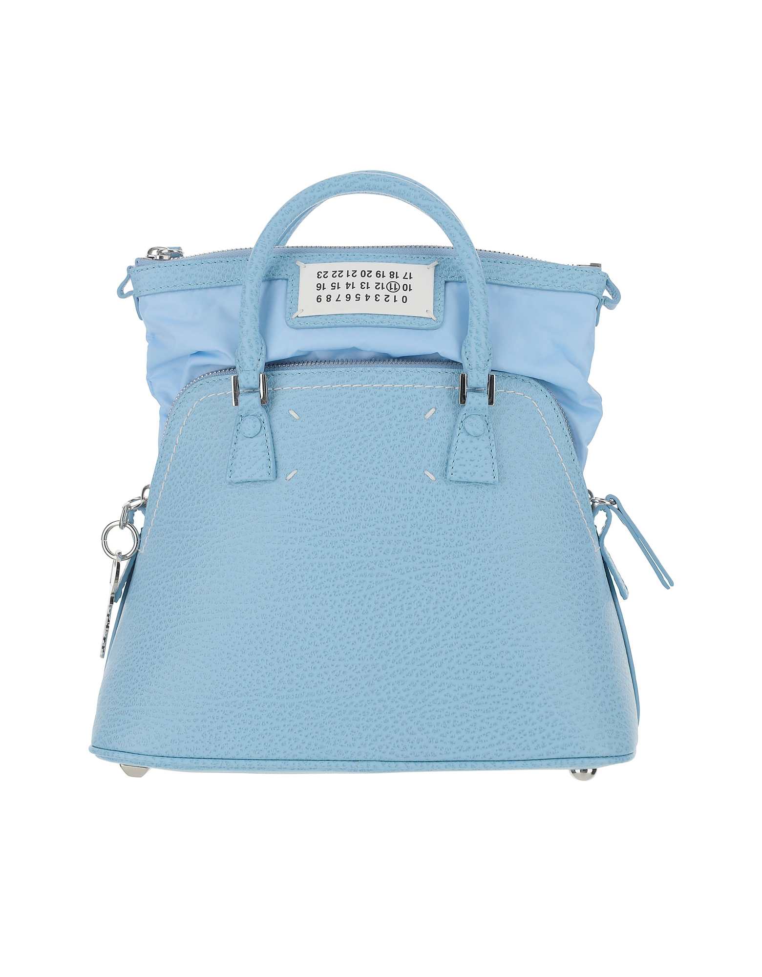 Maison Margiela Designer Handbags, Light Blue Leather and Fabric 5AC Bag