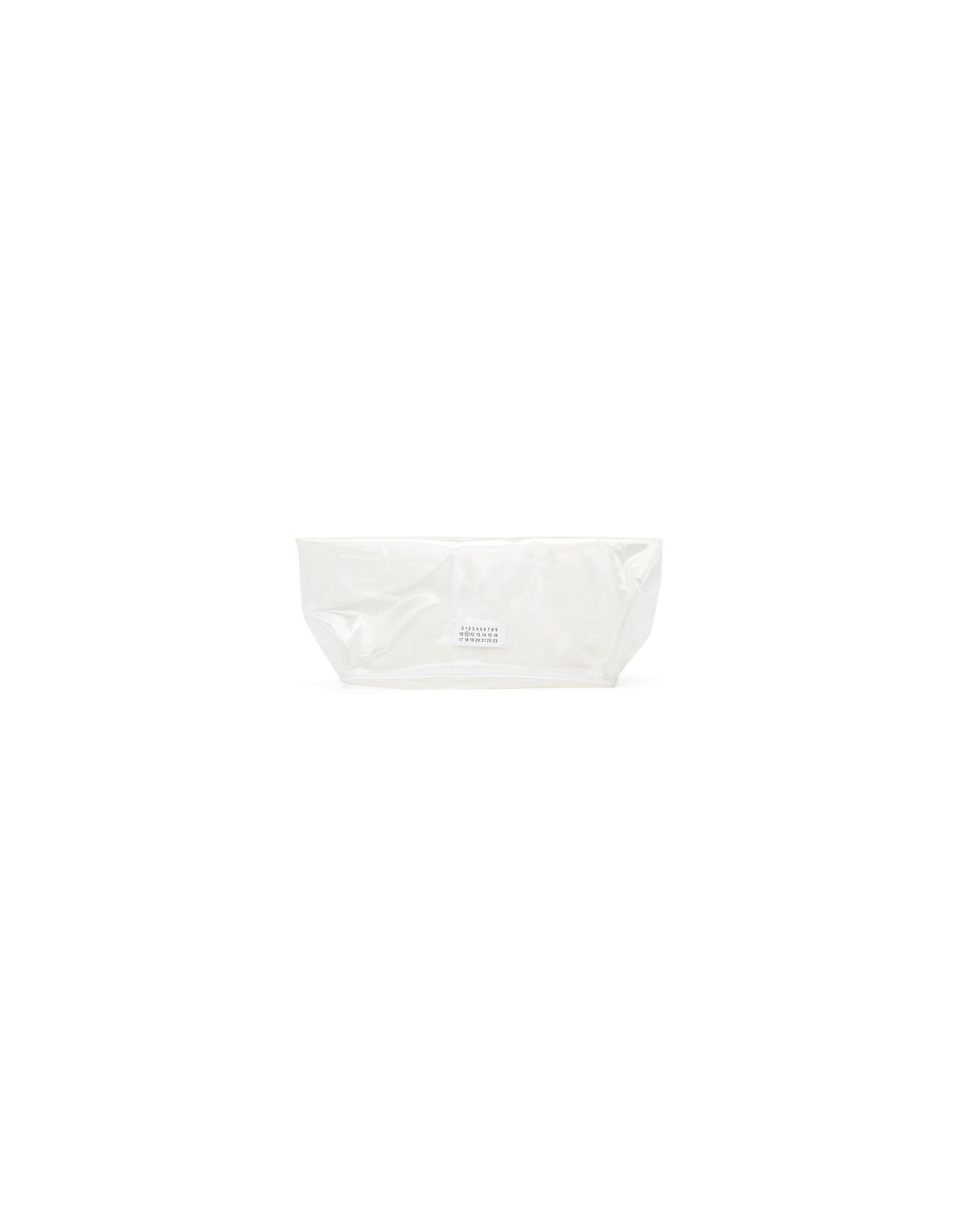 Maison Margiela Designer Handbags, Transparent Velcro Clutch