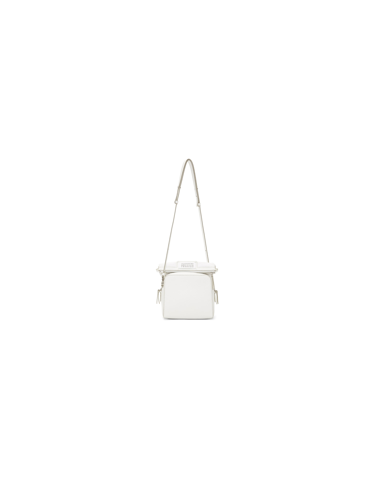 Maison Margiela Designer Handbags, White Small Rectangular 5AC Bag