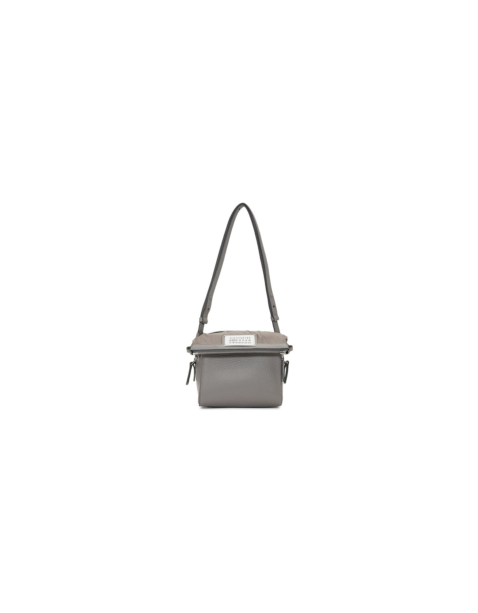 Maison Margiela Designer Handbags, Grey Medium 5AC Box Bag