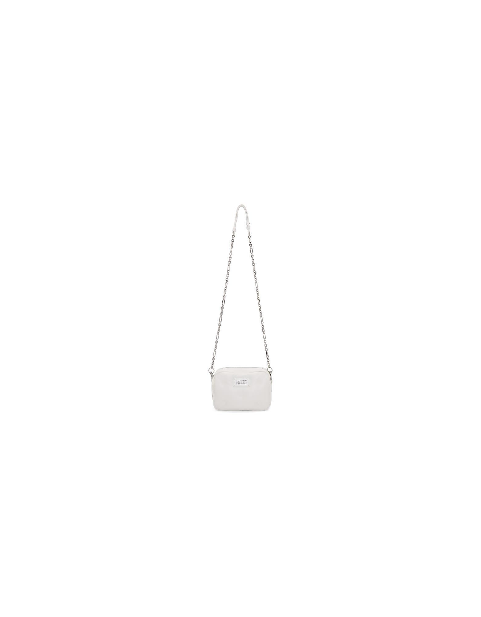 Maison Margiela Designer Handbags, White Small Rectangular Glam Slam Bag