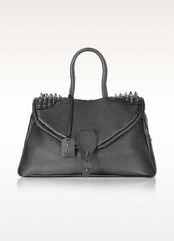 One Another - Studded Flap Satchel Bag - Maison du Posh