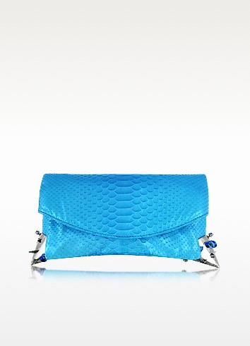 Python Leather Clutch - Maison du Posh