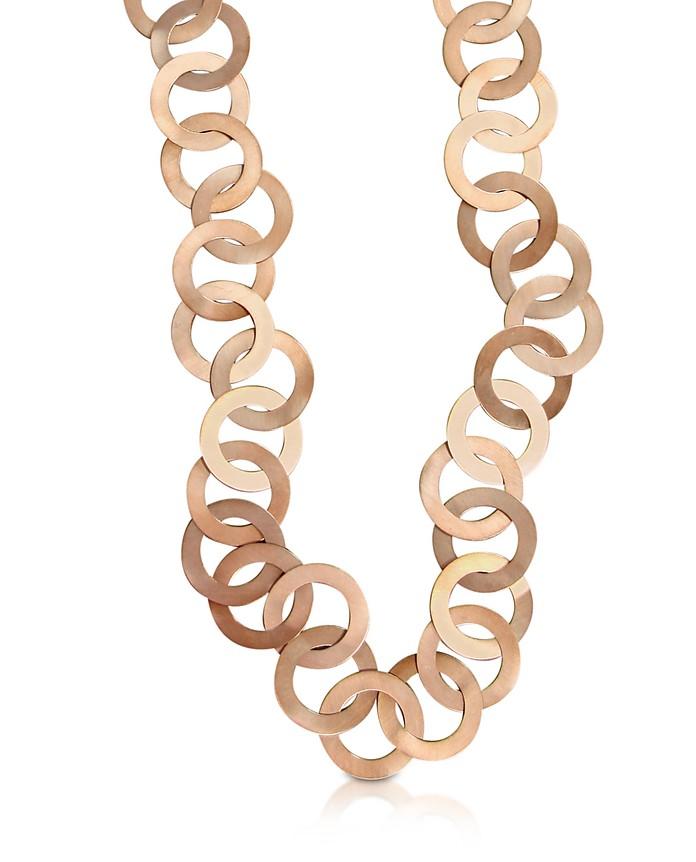 Med - Rose Gold Chain Necklace - Mita Marina Milano