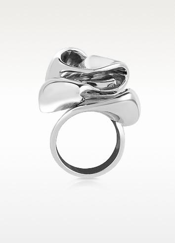 Sterling Silver Flower Ring - Mita Marina Milano