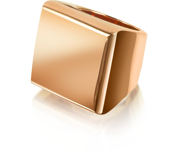 Rose Gold Geo Ring - Mita Marina Milano