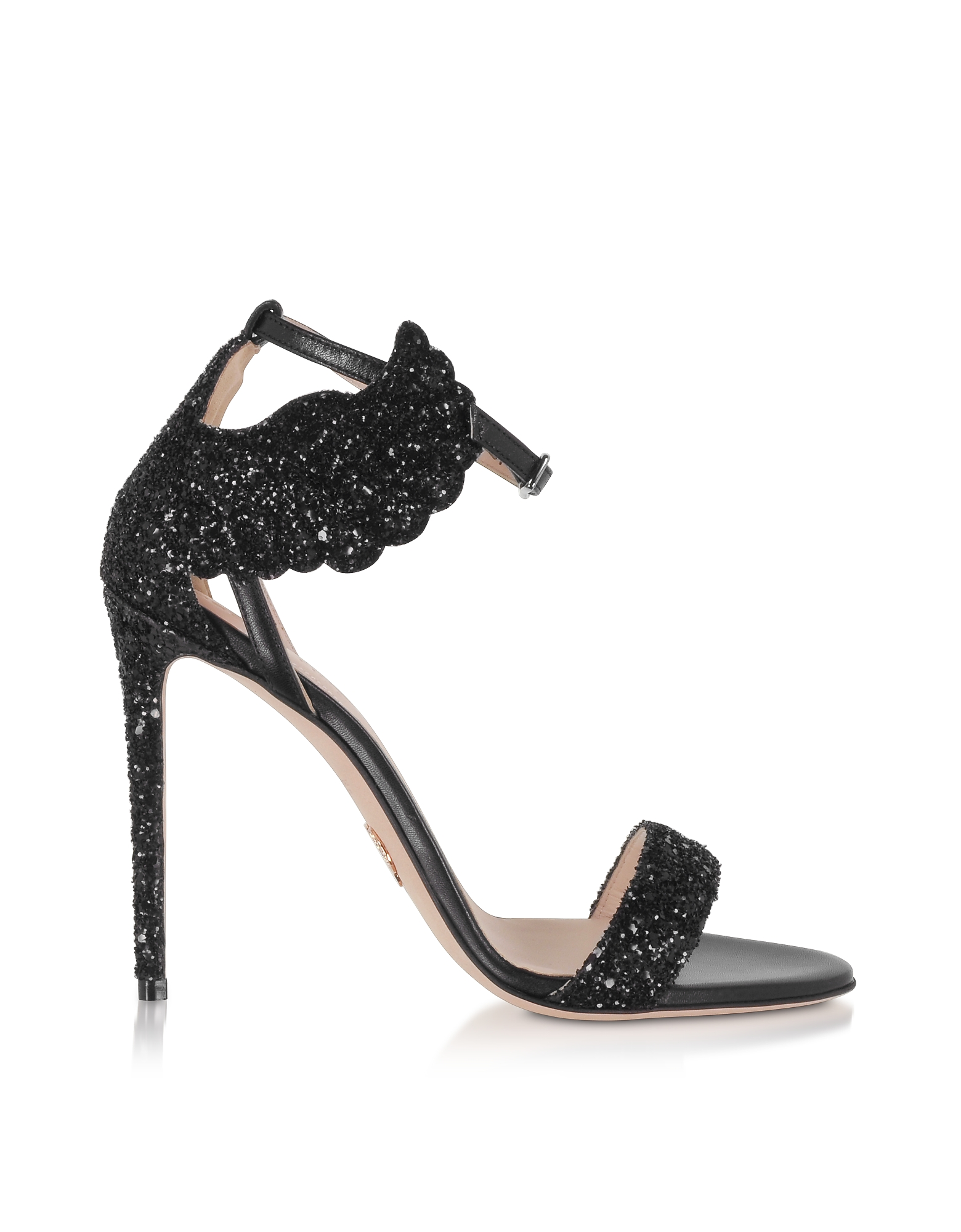 Black Malikah High Heel Sandals