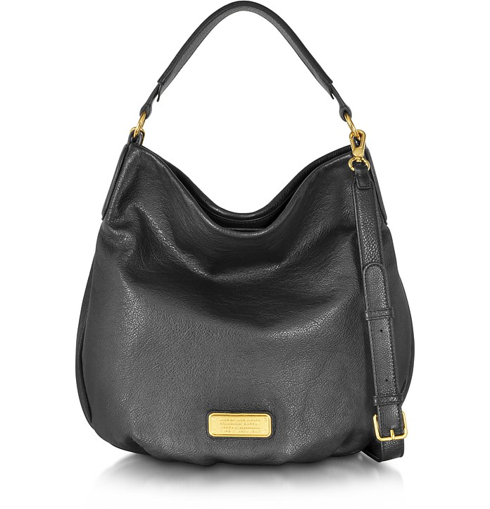 New Q Hillier Black Leather Hobo  - Marc by Marc Jacobs