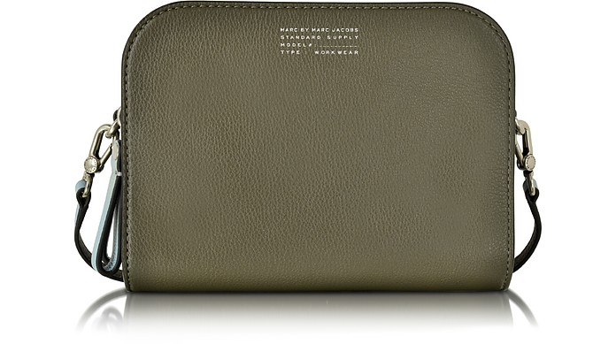 Tricolor Lux The Double Military Green Leather Crossbody - Marc by Marc Jacobs