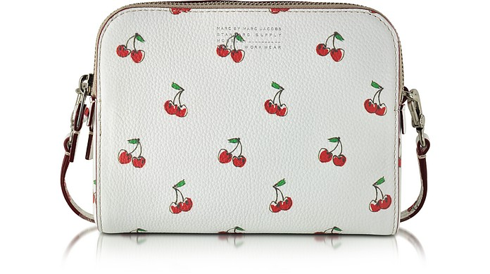 Fruit The Double Off White Cherry Print Leather Crossbody - Marc by Marc Jacobs