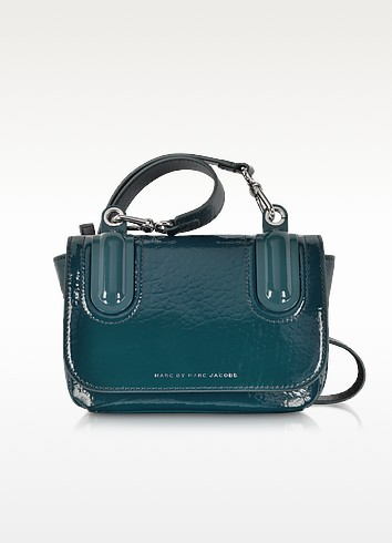 Ball & Chain Hopper Green Leather Crossbody Bag - Marc by Marc Jacobs