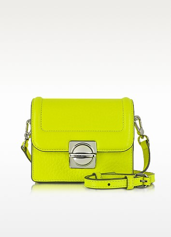 Top Schooly Jax Safety Yellow Leather Crossbody Bag - Marc by Marc Jacobs
