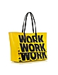 Metropoli Large Yellow Eco Leather Travel Tote - Marc by Marc Jacobs