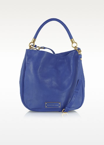 marc by marc jacobs too hot to handle bauhaus blue hobo bag at forzieri. Black Bedroom Furniture Sets. Home Design Ideas