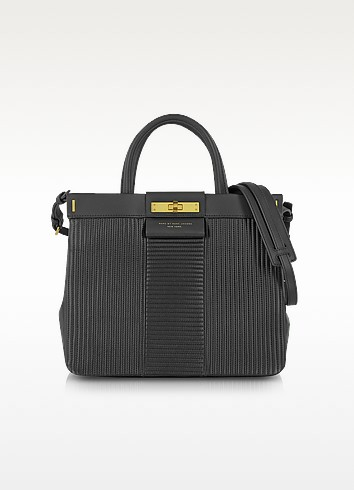 East End Quilted Madame Hilli Black Leather Tote - Marc by Marc Jacobs