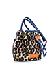 Too Hot To Handle Mini Drawstring Leopard Print Calfhair Shoulder Bag - Marc by Marc Jacobs