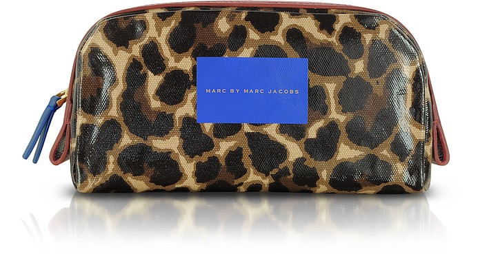Leopard-Print Canvas Zip Beauty Case - Marc by Marc Jacobs