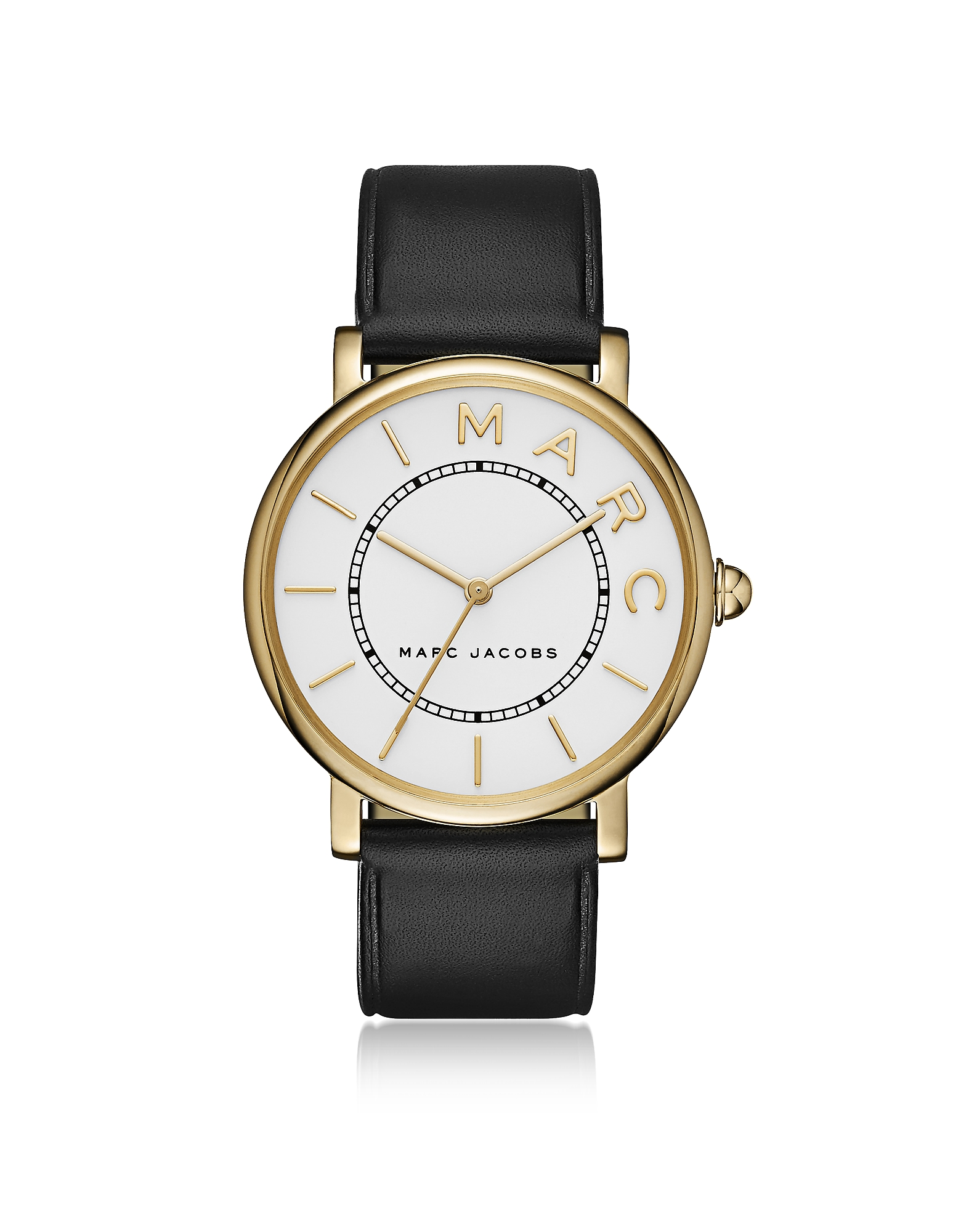 Marc Jacobs Women's Watches, Roxy Gold Tone and Black Leather Women's Watch