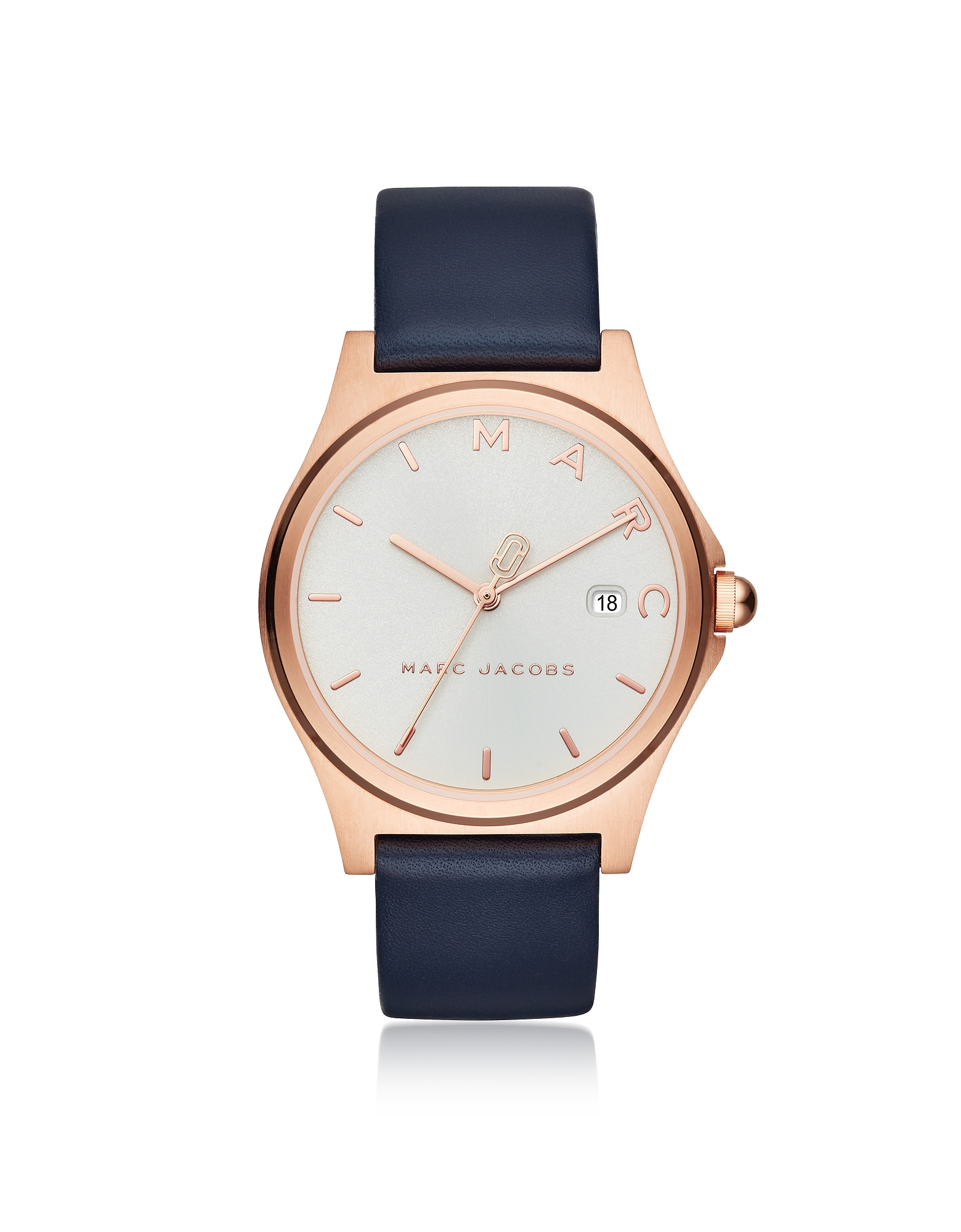 Henry Rose Gold Tone and Blue Leather Women's Watch