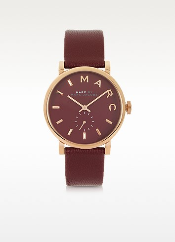 Maroon Baker 36.5MM Round Women's Watch - Marc by Marc Jacobs