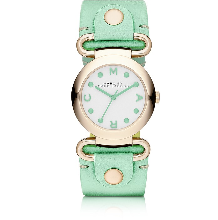 Molly 30MM Women's Watch w/Mint Leather Strap - Marc by Marc Jacobs