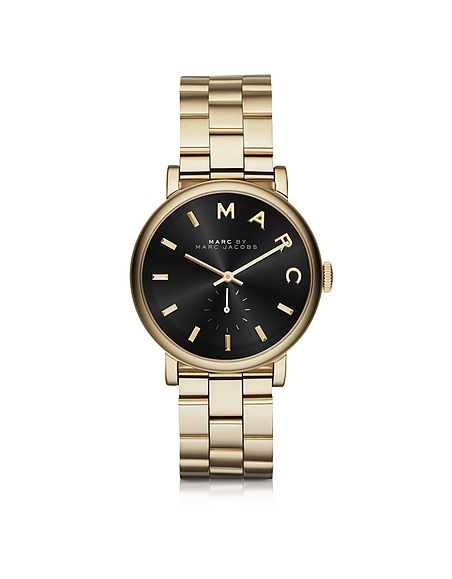 Marc by Marc Jacobs Baker - Montre Femme en Acier Inoxydable Or