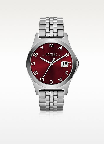 The Slim 30MM Bracelet Women's Watch w/Burgundy Dial - Marc by Marc Jacobs