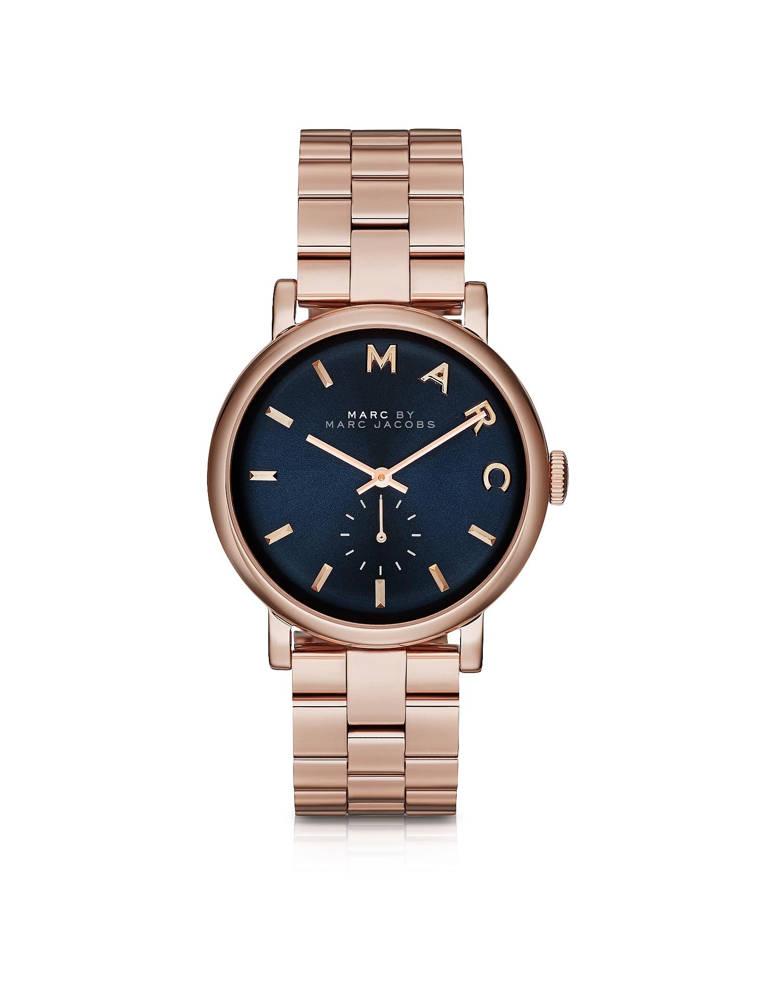 Marc by Marc Jacobs Women's Watches, Baker Bracelet 36MM Navy Blue Dial Women's Watch