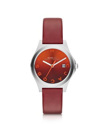 The Slim Strap Red Women's Watch