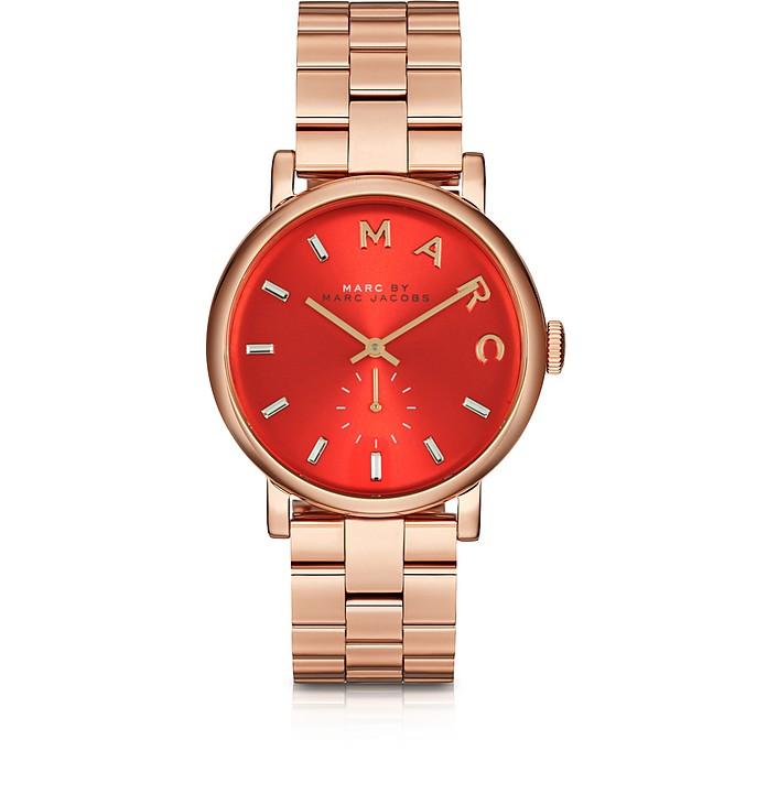 Baker Bracelet 36MM Red Dial Rose Gold Steel Women's Watch  - Marc by Marc Jacobs