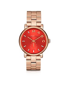 Baker Bracelet 36MM Red Dial Rose Gold Steel Women's Watch  - Marc by Marc Jacobs