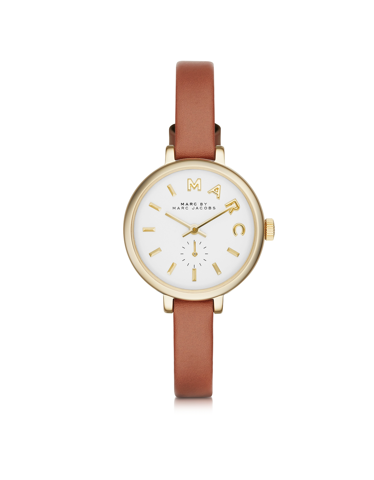 Marc by Marc Jacobs  Women's Watches Sally 28 MM Stainless Steel and Leather Strap Women's Watch