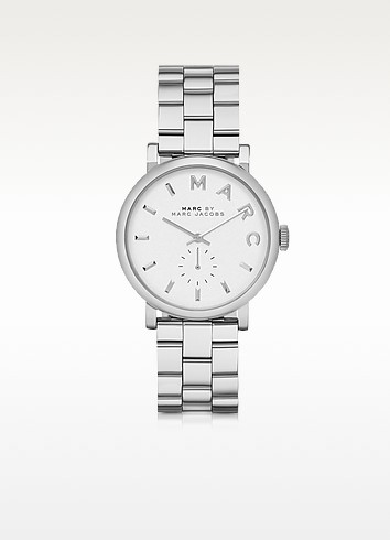 Baker 36MM Silver Tone Stainless Steel Women's Watch - Marc by Marc Jacobs / マーク バイ マークジョイコブス