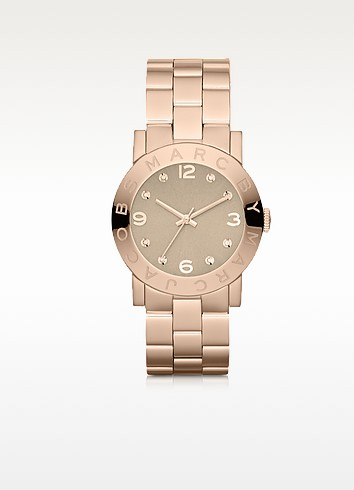 Amy 36.5 MM Rose Gold Tone Stainless Steel Women's Watch - Marc by Marc Jacobs