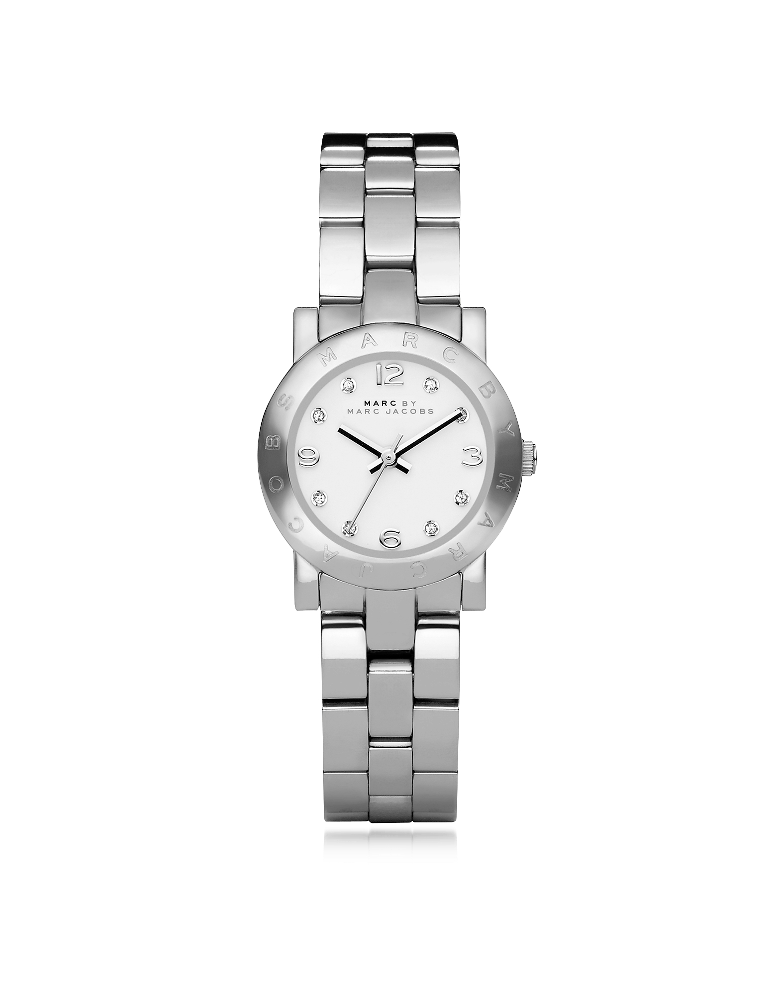 Marc by Marc Jacobs Women's Watches, Mini Amy 26 MM Silver Tone Stainless Steel Women's Watch