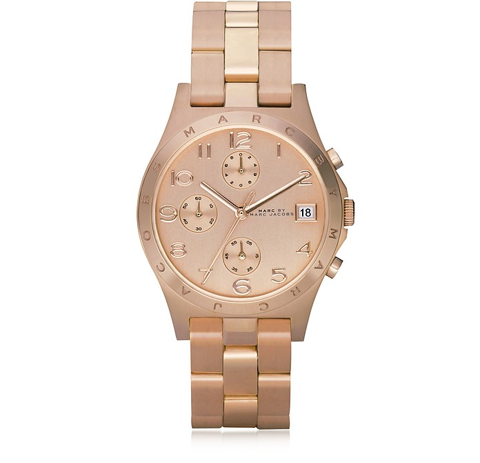 Henry Chrono 36.5 MM -  Montre Femme en Acier Inoxydable Or Rosé - Marc by Marc Jacobs